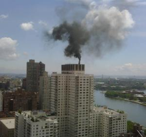 An Upper East Side building burning No. 6 heating oil, courtesy of Isabelle Silverman, Environmental Defense Fund.